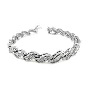Jewelry - 14 Karat Vintage White Gold & Diamond Bracelet